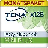 Tena Lady Discreet Monats-Paket Mini Plus mit 128 Einlagen (8 Packungen x16 Einlagen), 1er Pack (1 x 128 )
