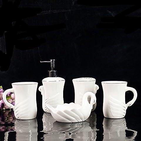 Mouthwash Cup 5 Ensembles De Sanitaires En Céramique Five Sets