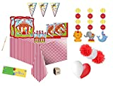 IRPot - Kit N 46 Circus Party Coordinato ADDOBBI Festa Compleanno Fluffy