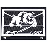 Protezione radiatore / copri radiatore Kawasaki Z750 200406 design 'Bulldog' + grata anti ghiaietto nera