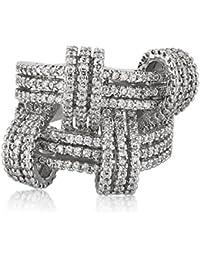 Shaze Rhodium Plated Chic Glitz Ring For Women/Girls   Gift For Her
