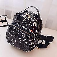KYJ Lady Backpack Women Bcakpack Fashion School Style Sequins Travel Satchel School Bag Samll