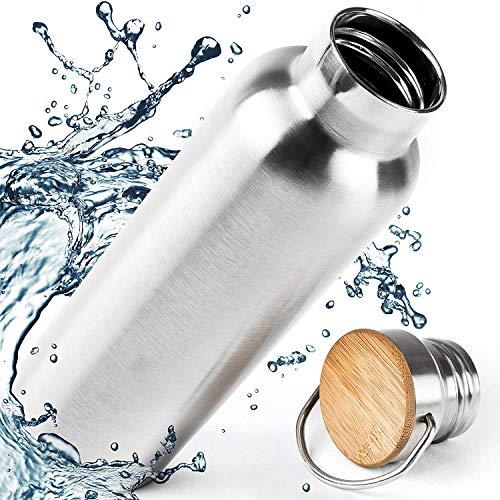 Kinder Trinkflaschen Edelstahl BPA Frei - 350ml und 500ml Isoliert Flasche, Baby Wasserflasche, Klein Stainless Steel Milchflasche 0.35L - 110% Lebensdauer GARANTIE