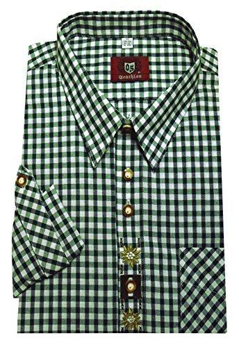 Trachtenhemd weiß-grün XXXXXL