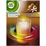 Air Wick Bougie Multicolore Vanille et Caramel - Lot de 2