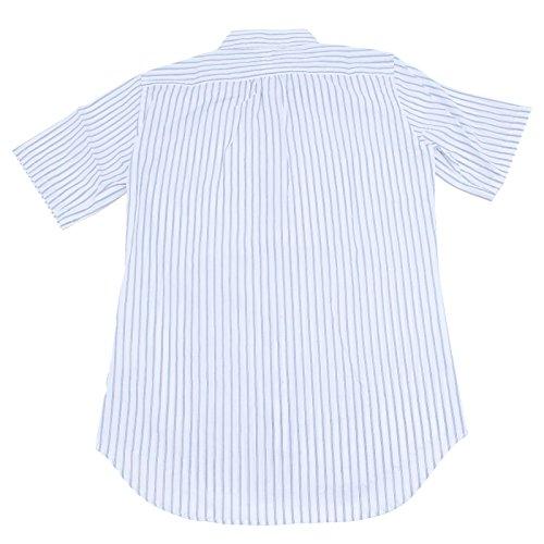 11377 camicia rigata DSQUARED D2 camicie uomo shirt men Azzurro