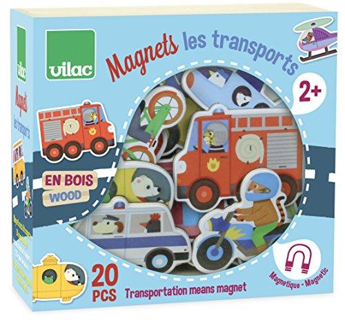 Vilac–8028–Magnete Transport aus Holz