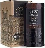 Luxus Trinkschokolade 70% - 1657, Für Dunkle Reine Schokolade, Handgemacht Von GMO-freien Anbau, 170g Geschenkdose