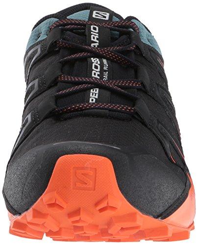 Salomon Homme Speedcross Vario 2 Chaussures de Course à Pied et Trail Running Noir/Bleu/Orange (Black/North Atlantic/Scarlet Ibis)