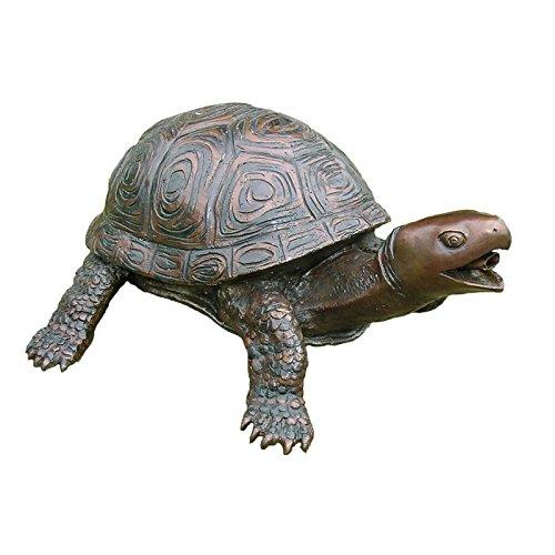 Schildkröte aus Bronze mit Wasserspeier