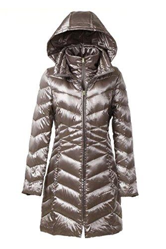 LIKECAR Women's Packable Daunenjacken und Jacken Leichte Winter Warm Long Sections Daunenmantel Hooded Daunenjacke