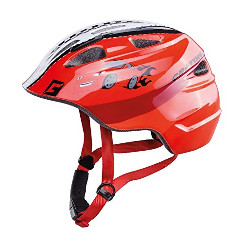 Cratoni Akino Helmet Kinder rennauto rot Glanz Kopfumfang M | 53-58cm 2019 Fahrradhelm