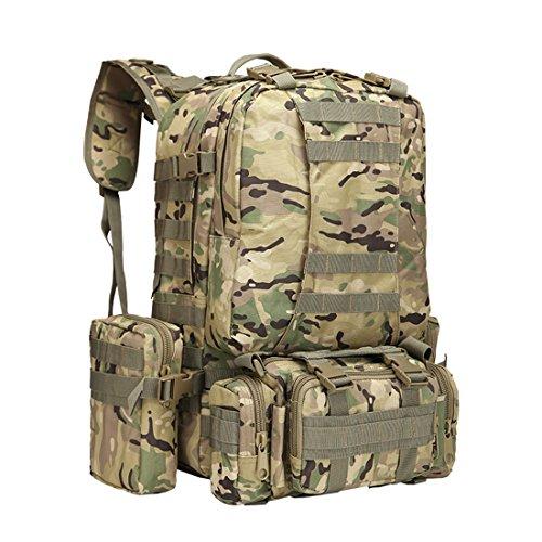 Zaino combinato con 3molle smontabile Bags, militare, militare, zaino, zaino Zaino, zaino militare, camouflage militare tattico zaino per campeggio, trekking 55L, CP CP