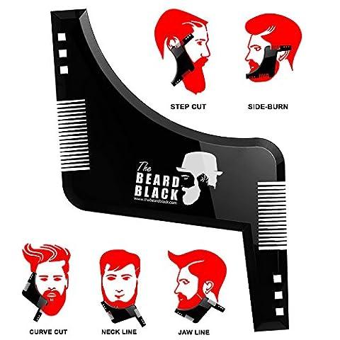 Bart-Gestaltung & Styling-Tool mit eingebautem Kamm für perfekten Line Up