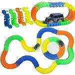 JN Retails Magic Race Bend Flex and Glow Tracks-220 Pieces