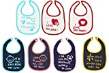 Nahshon Baby Bibs (Pack of 7, White)