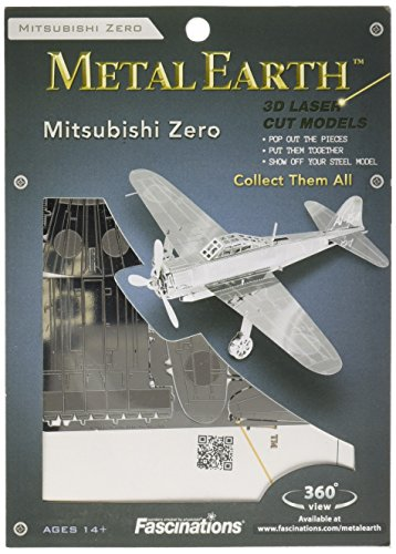 Unbekannt Metal Earth - Maqueta metálica Mitsubishi Zero Fighter