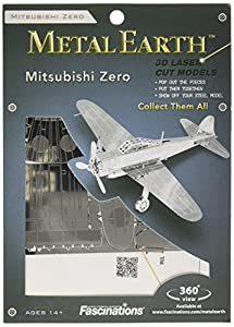 Unbekannt Metal Earth - Maqueta metálica Mitsubishi Zero Fighter