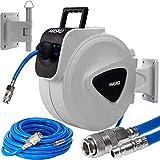 MASKO30m Druckluftschlauch Aufroller automatisch 3/8' Anschluss - Schlauchtrommel Wandschlauchhalter Schlauchaufroller Druckluftschlauch-Aufroller Druckluftschlauch-trommel