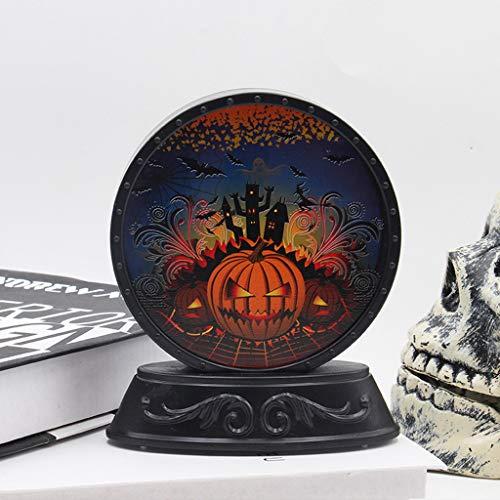 VICKY-HOHO Halloween Kürbis Fledermaus Muster Nachtlicht Szene Layout Requisiten - Kürbis Kopf Kostüm Muster