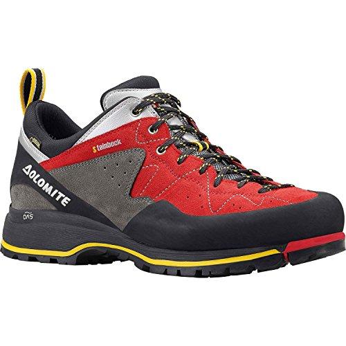 Dolomite Herren 85573700-010 Trekkingschuh Steinbock Low GTX Black/Silver Red/Silver