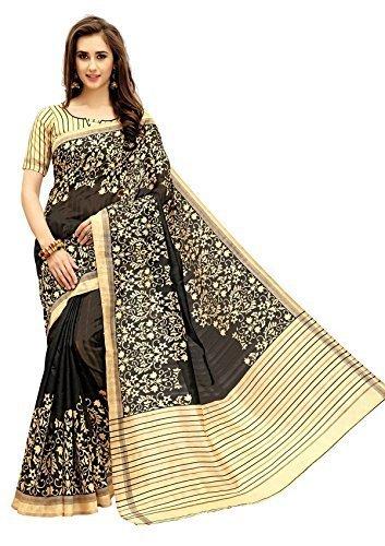 Nirmla Fashion Bhagalpuri Cotton Silk Saree With Blouse Piece(Saree for S1073_Free Size)