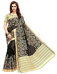 Nirmla Fashion Bhagalpuri Cotton Silk Saree With Blouse Piece(Saree For S1073_Free Size)