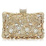 Superw Femmes Diamant Creux Sac d'embrayage De Mariée Sacs De Soirée Pochettes Femmes Sac À Main d'embrayage Bourse Bandoulière (Couleur : E)