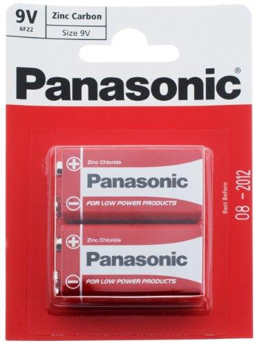 Panasonic Zinc Carbon - PP3 (mn1604/6F22/6LR61) 9 V - Juego de 2 Pilas