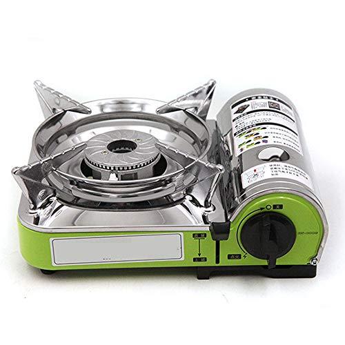 Estufa de gas portátil, horno de cassette mini de doble llama La estufa de camping al aire libre portátil se puede utilizar para el buffet del hotel familiar Puede ser utilizado por 3-5 personas
