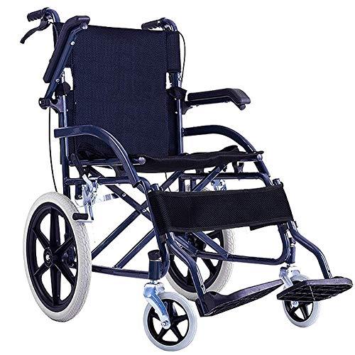 YZ-YUAN Leichter Rollstuhl, der medizinischen Erwachsenen medizinischen Bedarf, rollende tragbare alte Karren des Rollstuhls kleine Feste Radreise fährt