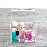 Tapa transparente a prueba de polvo cosméticos productos para el cuidado de la piel artículos pequeños caja de almacenamiento de escritorio lápiz labial esmalte de uñas caja de cosméticos organizador