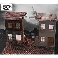 FoG models Diorama Kit terrasse et rue bombardées Seconde Guerre Mondiale Grande échelle 1/35