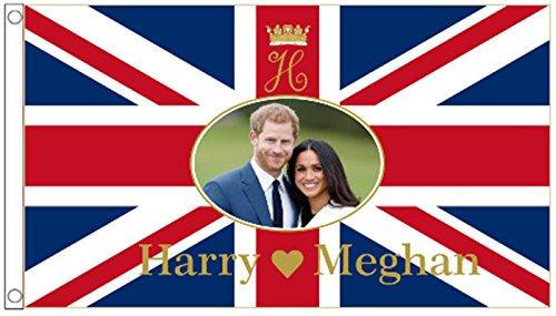 Prince Harry & Meghan Markle Royal Mariage fiançailles 5 'X3' Drapeau