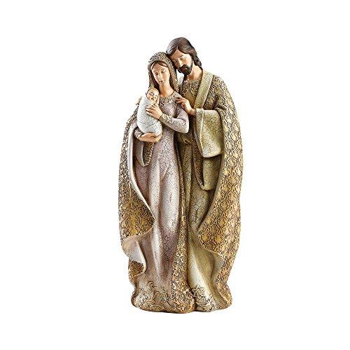 Roman Sagrada Familia Mary holding baby Jesus 12cm resina piedra figura decorativa de Navidad