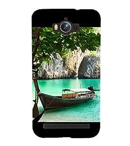 Boat in River 3D Hard Polycarbonate Designer Back Case Cover for Asus Zenfone Max ZC550KL :: Asus Zenfone Max ZC550KL 2016 :: Asus Zenfone Max ZC550KL 6A076IN