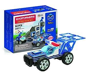 Magformers 717002 Juguete de construcción magnética, Blanco, Azul, Gris