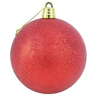 15cm gigantes rojas Glitter chuchería – Decoraciones de Navidad – Pasamanería árbol.