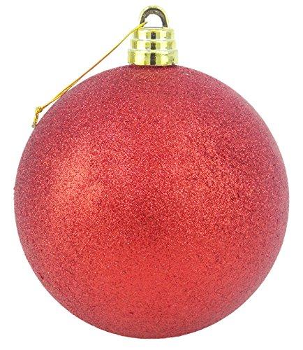 15cm géante rouge Glitter Babiole - Décorations de Noël - Passementerie arbre.