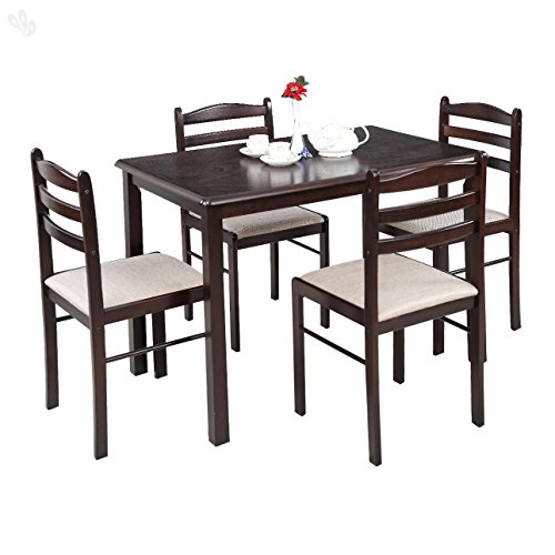 Royal Oak Hunter Four Seater Dining Table Set (Dark Brown)