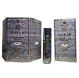 Original Al Rehab Dakar 6x 6ml Öl Parfüm, Duft auf Rolle, alkoholfrei, Halal