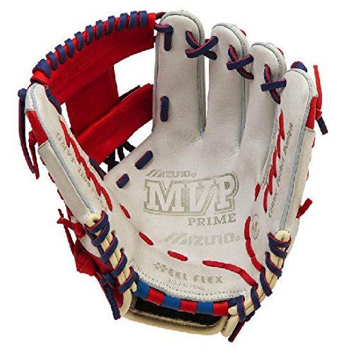 Mizuno gmvp1154se4MVP Prime SE Handschuhe, Silber/Rot, 11.5'' -