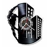 Gift.Time.UK2000 Spiderman Disque Vinyle Horloge Murale-Fait Main Ornement Décoration et Idée...