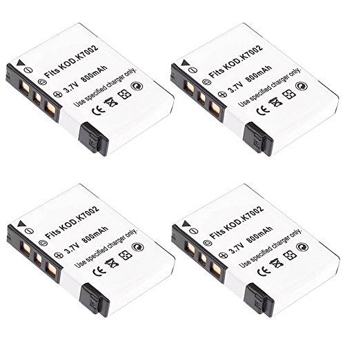 Neewer® (4Stück) 3,7V 800mAh Lithium-Ionen-Akku (Ersatz für Kodak klic-7002Akku) für Kodak V530, V603Digital Kameras