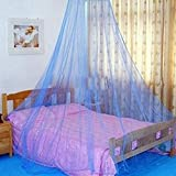 17Years - Betthimmel, Bettdekoration im süßen Sommerstil, rund, Moskitonetz, blau, Einheitsgröße