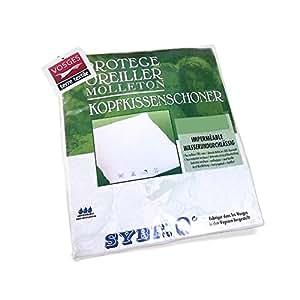 Housse de Protection d'oreiller imperméable - Antony Blanc 60x40