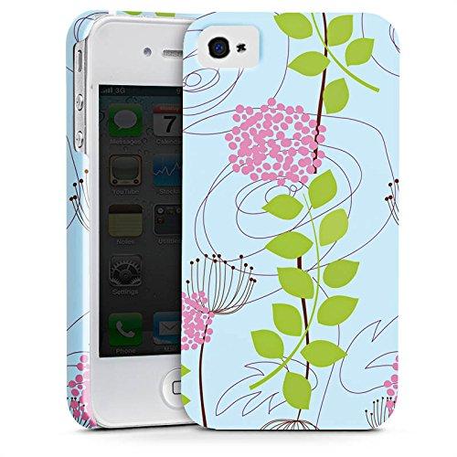 Apple iPhone X Silikon Hülle Case Schutzhülle Blumen Muster Ranken Premium Case glänzend