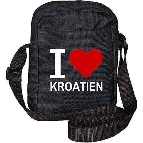 Preisvergleich Produktbild Umhängetasche Classic I Love Kroatien schwarz