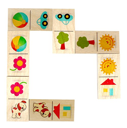 4900 - Domino aus Holz Sonne, 28 Teile ()