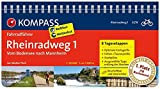 KOMPASS Fahrradführer Rheinradweg 1, vom Bodensee nach Mannheim: Fahrradführer mit Routenkarten im optimalen Maßstab.: Fietsgids 1:50 000 - Walter Theil